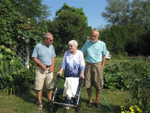 John,David,Bert in garden